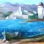 Peinture Collioure Barque