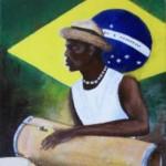 Peinture brésilien au congas