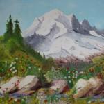 Peinture Mont Blanc